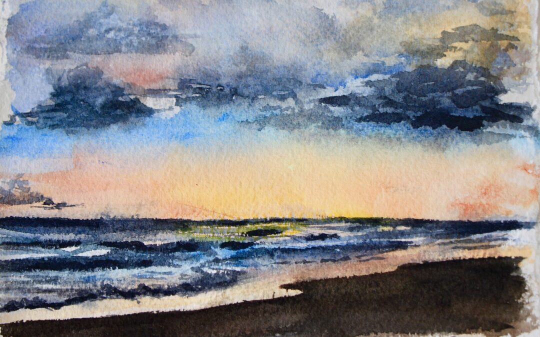 Join Watercolor Sunset Beach Pop-Up on Oct 22