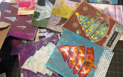 Winter/Holiday Themed Gelliplate Printmaking Workshops